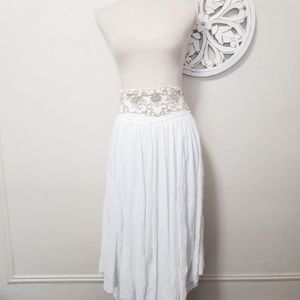 Free people size XS maxi flowy asymmetrical skirt